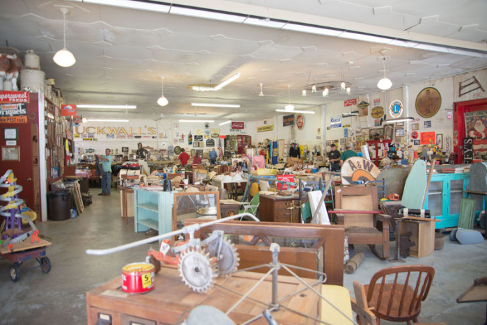 4. Search for treasures at a 400-mile long garage sale.