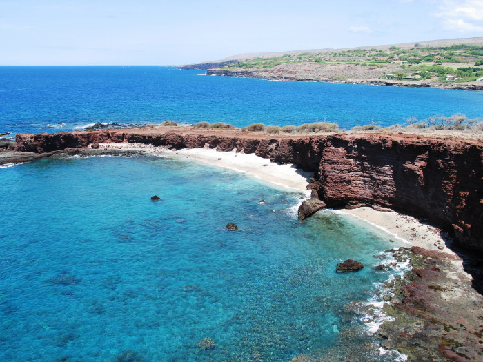2) A short hike down to Lanai's Sweetheart Rock makes for a memorable afternoon.