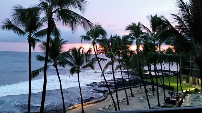 13) A sunset captured by Dolly Camara Maciel-DiCarolis from the Aston Kona by the Sea.