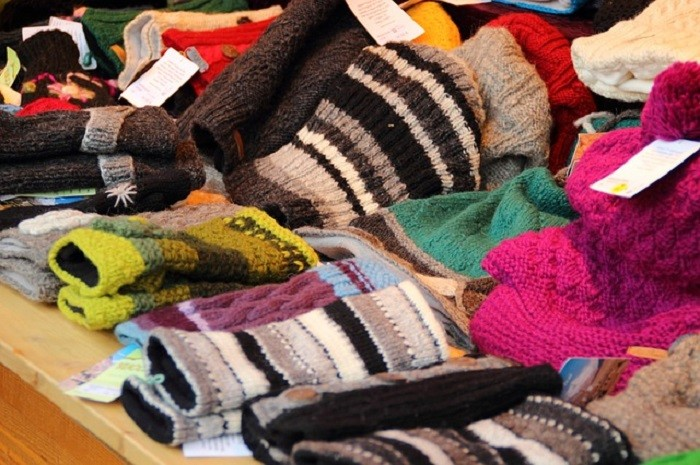 10. Winter clothing and accessories become available at retail shops.
