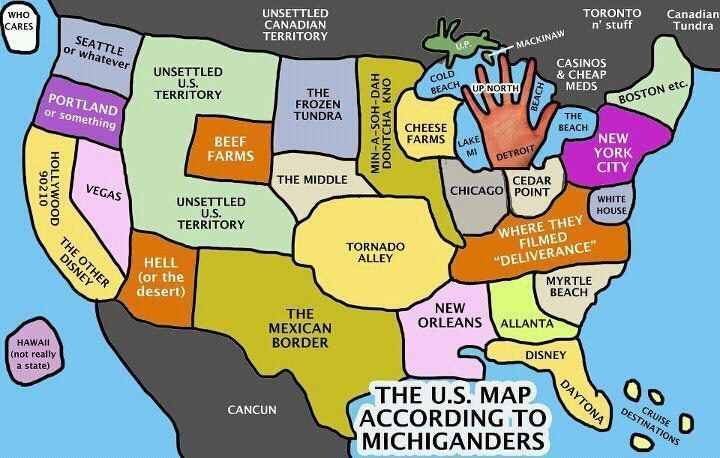 take a look at the united states  according to michiganders