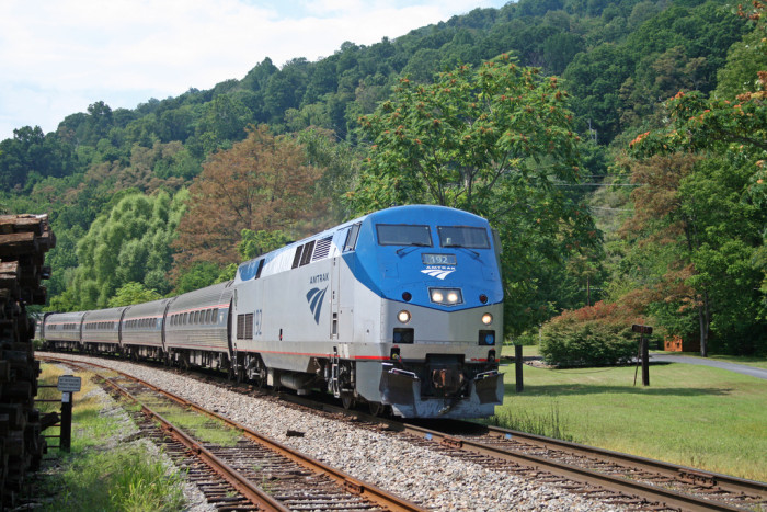 3. What better way to see the beauty of the Blue Ridge Mountains than by train?