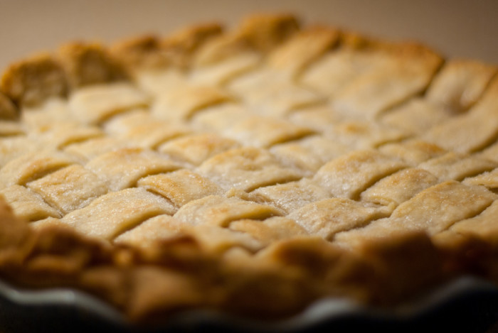 2) Then bake it into a pie!