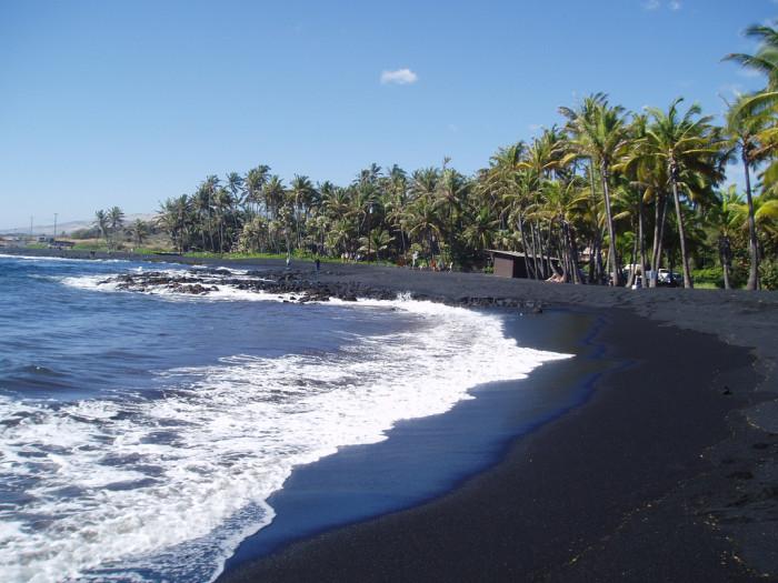4) Beach shots are gorgeous, but unique black sand beach photos are even better.