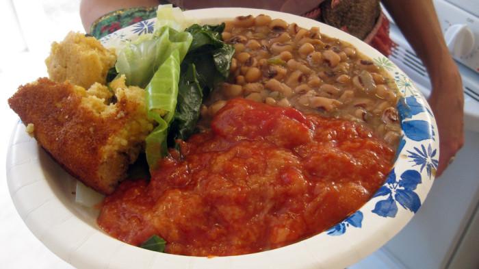 5. Black-eyed Peas and Stewed Tomatoes
