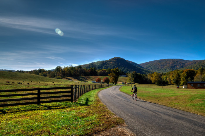 1. Take a drive along Blackwells Hollow Road (Route 810) in Albemarle County