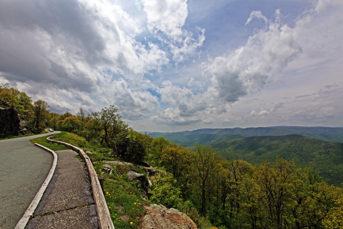 12. Along the way, stop for views like this: Rock Point Overlook at Mile Post 10.4