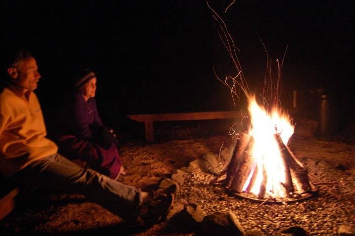 7. Crisp nights = bonfires