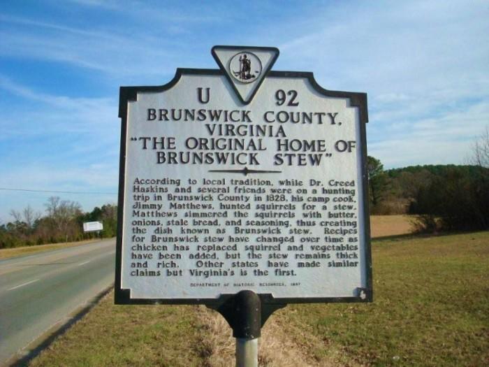 Brunswick Stew sign