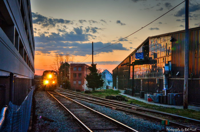8. The CSX 618 in the early morning at the Buckingham Branch line in Charlottesville.