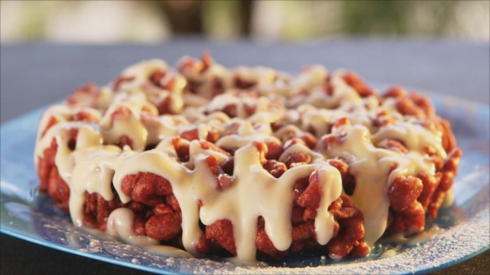5) Red Funnel Cake w/ Cream Cheese