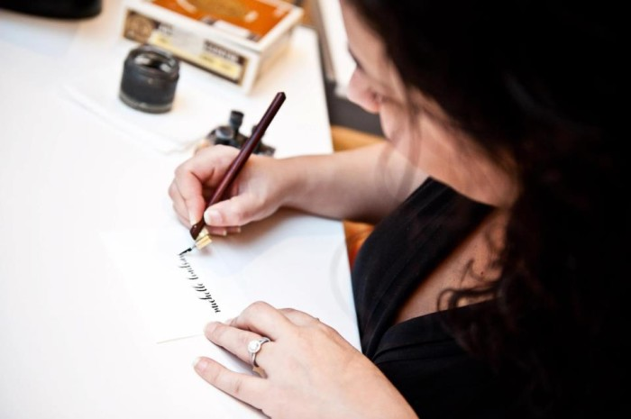 7. Take a Calligraphy Class