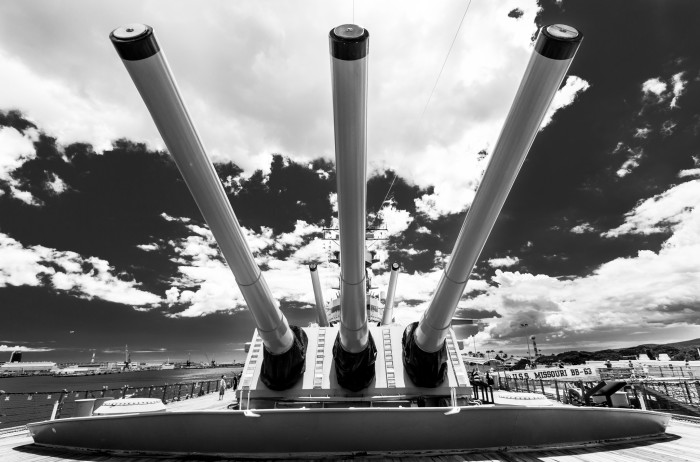 """12) Capture a piece of American history with a visit to any of the Pearl Harbor Historic Sites on Oahu – this incredible shot is of the USS Missouri, or the """"Mighty Mo."""""""