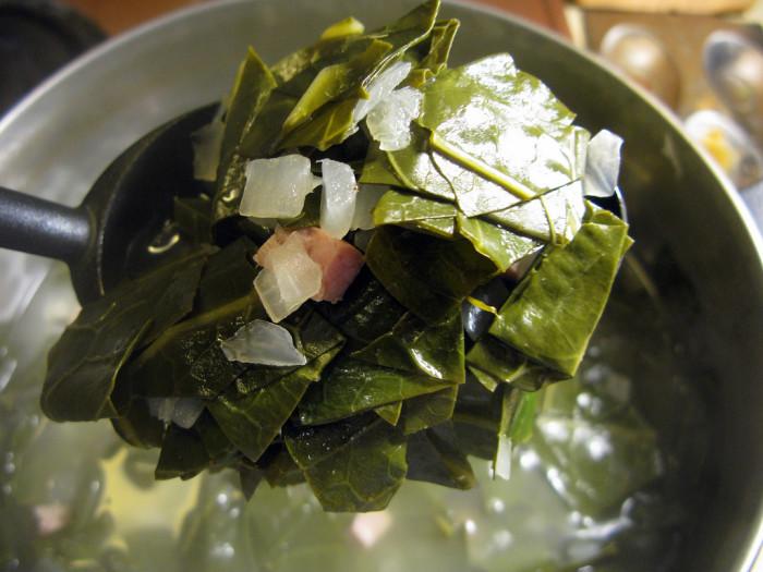 6. Collard Greens and Salt Pork (or fatback, depending on your terminology)