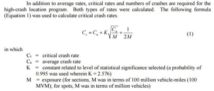 Formula used for data.