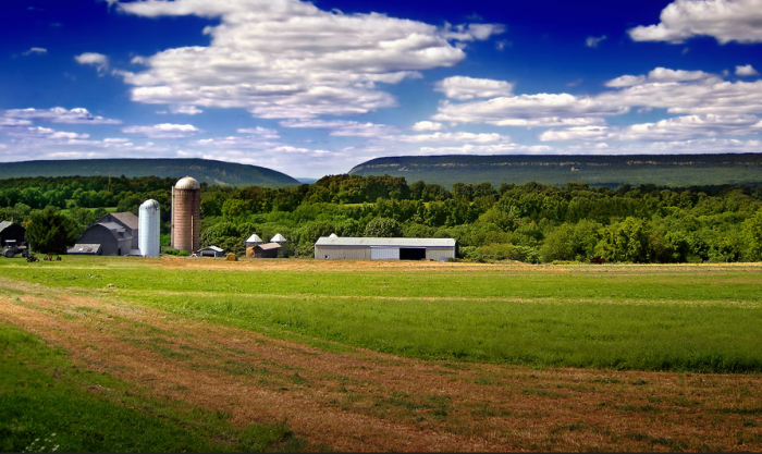 7. Views of the Delaware Water Gap from a charming farm in Knowlton Township.