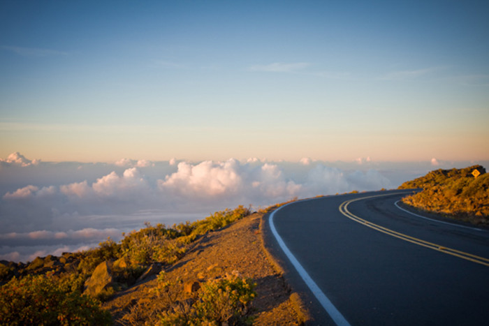 1) Driving along this winding road to the summit of Haleakala on Maui is absolutely exhilarating. I mean, you are practically riding with the clouds!