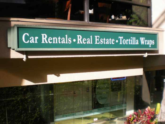 9) Finally somewhere where I can rent a car, buy a home, and stock up on some tortilla wraps!