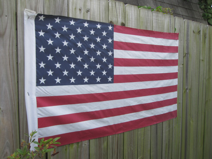 9) It's not strange to find a flag in someone's yard