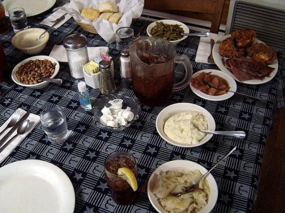 10. Fried Chicken, Biscuits and Gravy