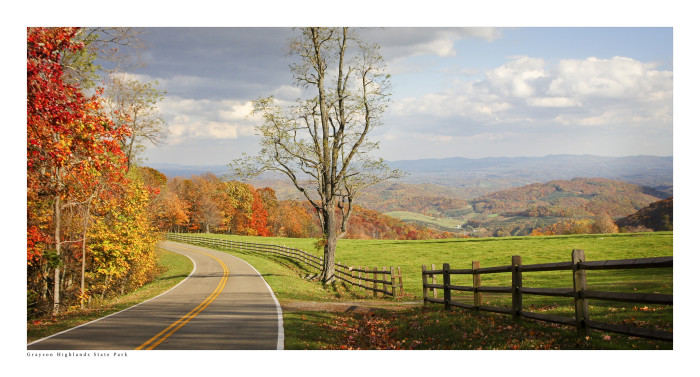 16. Few places are more breathtaking than Grayson Highlands State Park. Take Route 16 for 24 miles from Marion, then turn right on US 58. The park's entrance is 8 miles farther.
