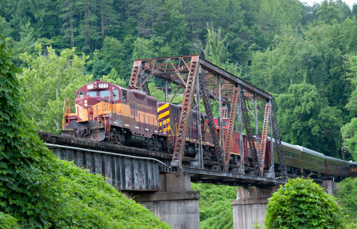 8) Great Smoky Mountain Railroad