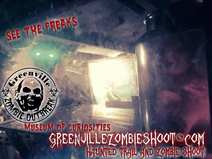 7. Greenville Zombie Outbreak Haunted Trail and Zombie Shoot, 200 Wham Road Fountain Inn