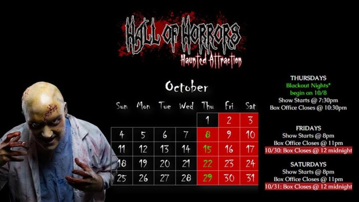 4. Hall of Horrors, 1153 Walter Price St Columbia (Cayce)