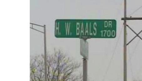 1.  Harry Baals Drive