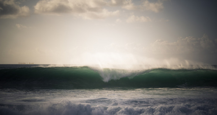 9) If you're anything like me, these huge waves seen on Oahu's North Shore are pretty intimidating. Is anyone else afraid of being swept out to see? Just me? Oh.