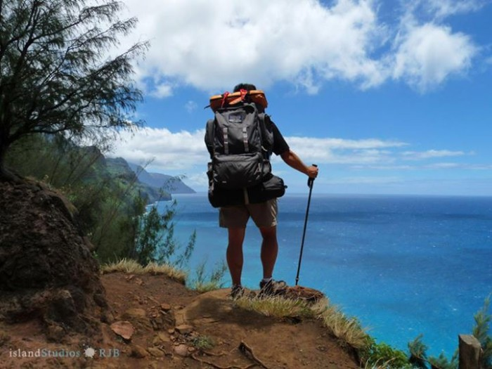 11) Lopaka Bridges took this photo on their three day, two night excursion to the famous Kalalau Trail in Hawaii.