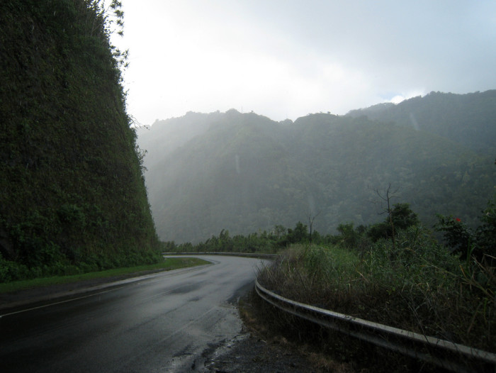 8) Maui's Road to Hana is 64 miles long, passing over 59 bridges, with approximately 620 curves along the road.