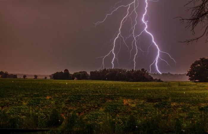 17. A unique storm shot in Medford, taken by Michael Dillon.