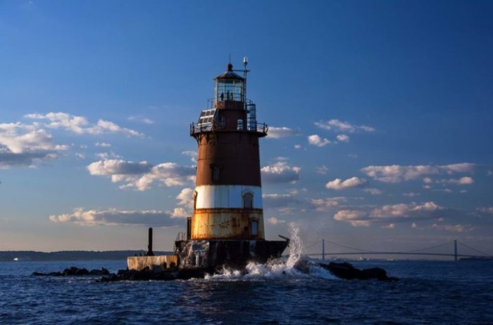 7. Romer Shoal Lighthouse off the coast of Sandy Hook, taken by Stanley Kosinski.