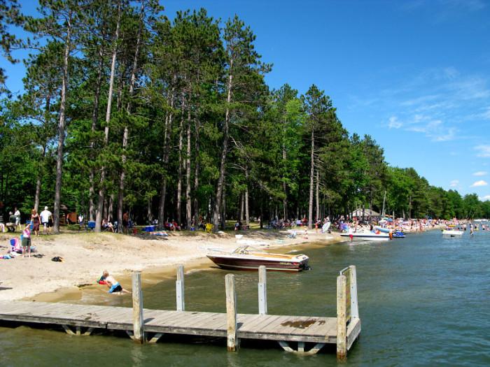 9) North Higgins Lake State Park