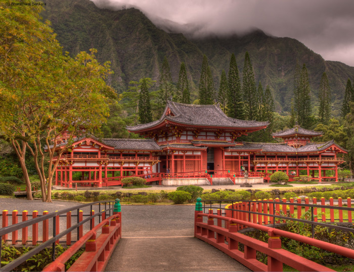 9) Oahu's Byodo-In Temple is a scale replica of a temple in Japan, and the perfect spot for some gorgeous architectural shots.