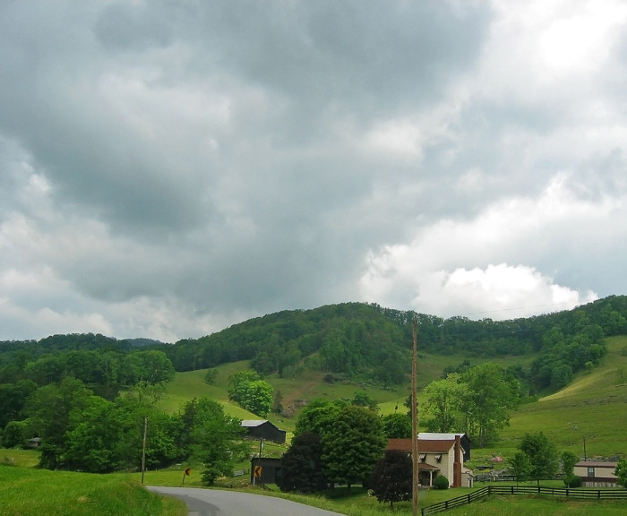 5. Explore Route 659 near Pennington Gap to see country scenery like this.
