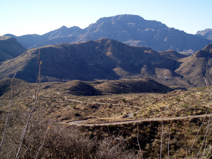 8) Between Marfa and Ruidosa, you can cruise along RM 2810 for breathtaking views of the Chinati Mountains in Presidio County.