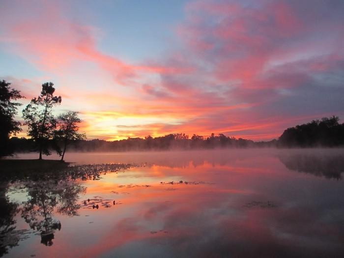 13.  Sunrise over Lyman Lake taken by SClakehomes.