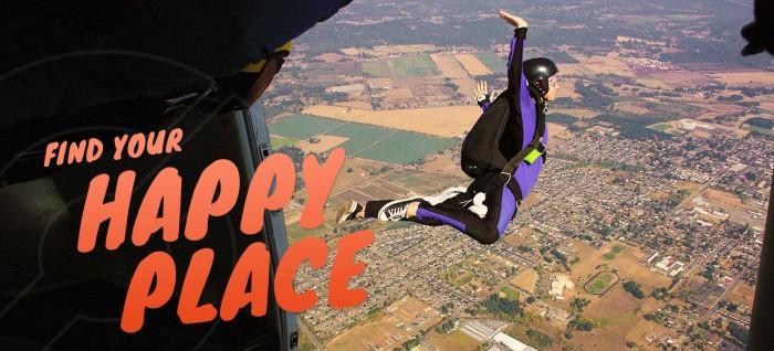 2) Go sky diving!