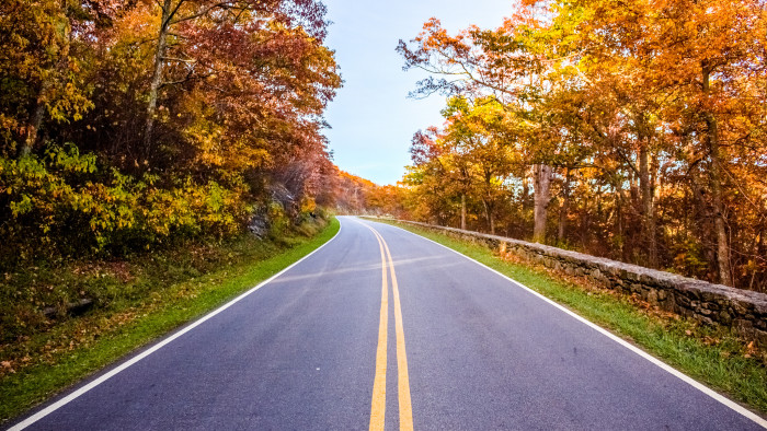 19. And, of course, no review of scenic drives in Virginia would be complete without Skyline Drive. Beginning in Front Royal, the drive is 105 miles through the Shenandoah National Park and is the only public road through the park. Don't miss it.