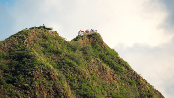 4) Sometimes a view is even more terrifying when you are looking up to where you will soon be – like this shot of Diamond Head State Monument, on Oahu.