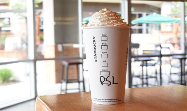 1. Starbucks has officially declared the start of fall by releasing their pumpkin spice latte