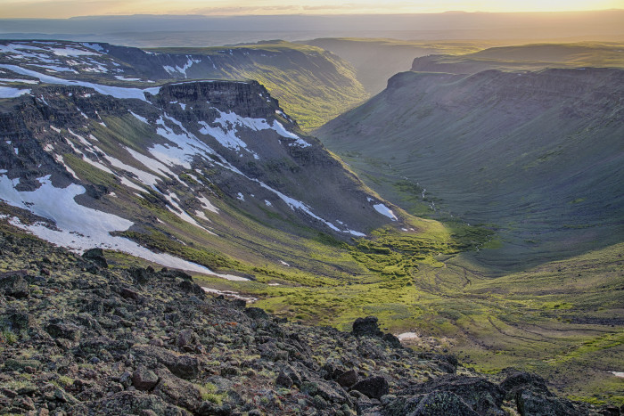 2) Looking over a valley at Steens Mountain