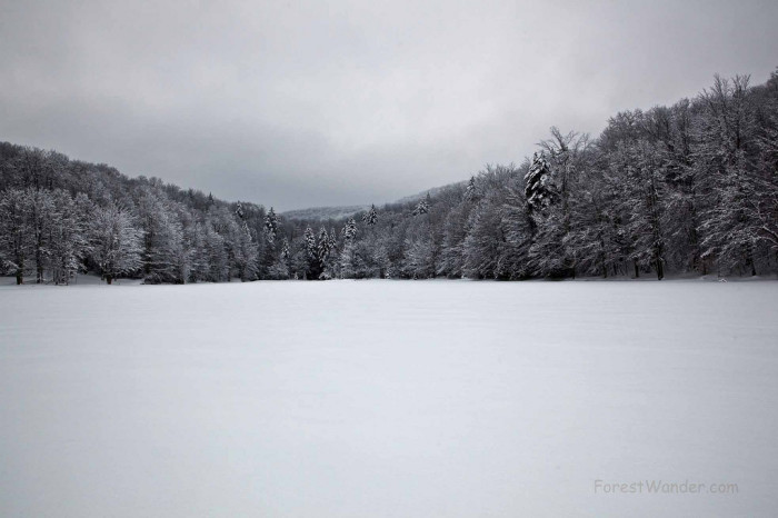 12. This view of Summit Lake while it's frozen.