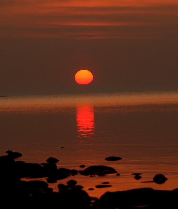 2) Sunset at Presque Isle Harbor