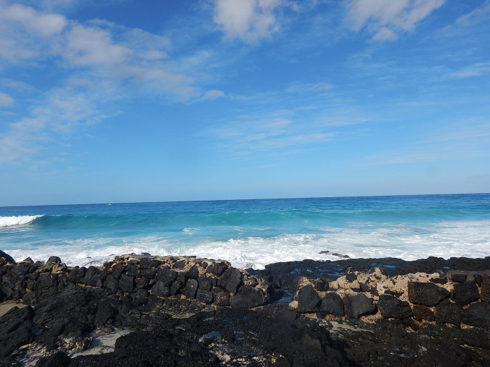 12) Taken from the oceanfront Kona Bali Kai rental condos on the Big Island, this rock formation would be best experienced with a good book, and the sound of crashing waves.