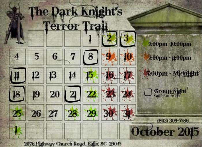10. The Dark Knight's Terror Trail, 2076 Highway Church Road Elgin