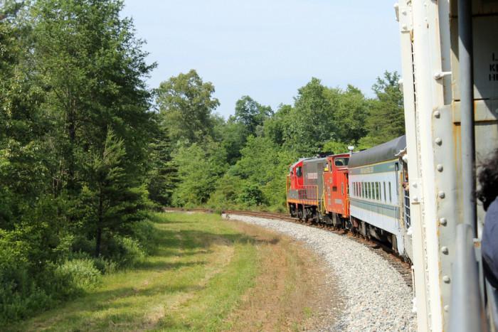 7. The James River Rambler takes passengers on vintage diesel train rides through Central Virginia.