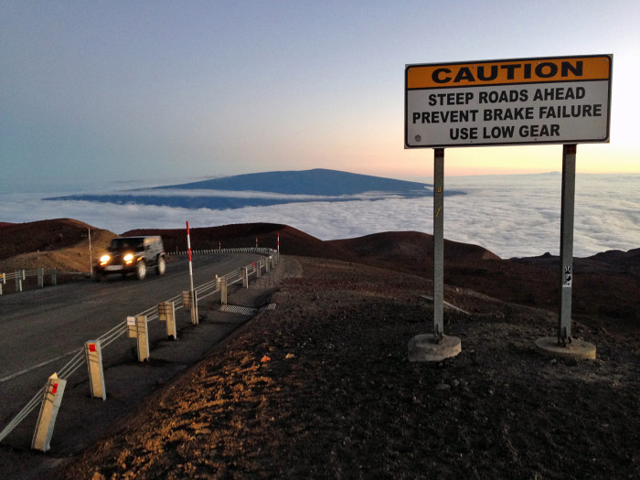 13) The drive up to the summit of Mauna Kea is steep, dangerous, and worth every second. That is Mauna Loa in the distance, FYI.